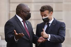 President cyril ramaphosa's ipad mysteriously vanished during a press conference yesterday living him so confused. Landmark Initiative Ramaphosa Macron Announce New Sa Based Covid 19 Vaccine Hub News24