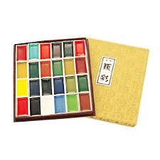 絵具 『角顔彩上製24色セット』 KISSHO 吉祥 ユザワヤ - 通販 - PayPayモール