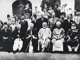 allama iqbal back row third from right with scholars from the famous al