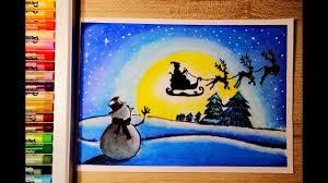 วาดภาพวันคริสต์มาส | How to draw Merry Christmas - YouTube
