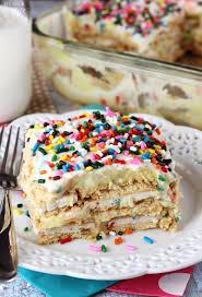 Funfetti Birthday Cake Icebox Cake Life Love and Sugar