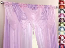Lilac Bedroom Curtains Pink Amp Lilac Voile Swags Amp Curtain Panels 9 Peice Set 48