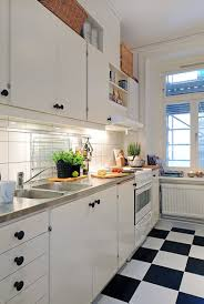 For Small Kitchens In Apartments Small Kitchen White Cabinet White Comfy Sofa White Shelves Beige