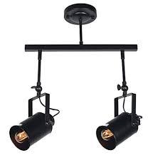 industrial track lighting systems. Baiwaiz Black Industrial Track Lighting, Adjustable Metal Ceiling Kitchen  Light Fixtures 2 Lights Edison E26 Industrial Track Lighting Systems