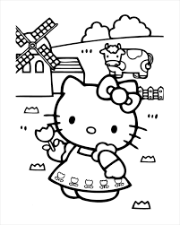 Simple free hello kitty coloring page to print and color. Free 18 Hello Kitty Coloring Pages In Pdf Ai
