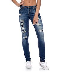 Almost Famous Jeans Size Chart Almost Famous Dark Wash Rip Repair Skinny Jeans