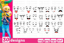 Free emoji icons in wide variety of styles like line, solid, flat, colored outline, hand drawn and many more such styles. 30 Cartoon Designs Bundle Graphic By Svgocean Creative Fabrica In 2020 Emoji Svg Cartoon Design Design Bundles