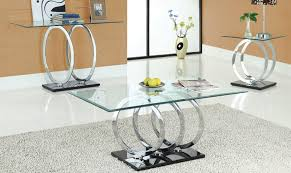 image of contemporary modern glass coffee table