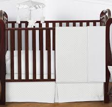 solid white minky dot baby bedding 4pc crib set by sweet jojo designs only 139 99