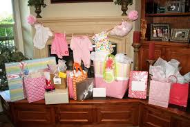 Baby Shower Clothesline With Wood Cabinets
