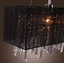 vintage kitchen lighting fixtures. Top 44 Beautiful Black Romantic Pastoral Drawing Rectangle Restaurant Kitchen Light Crystal Chandelier Lighting Fixtures Vintage Silk Pendant Rectangular P L