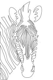 zebra head coloring book ilration stock vector ilration of image dobbin
