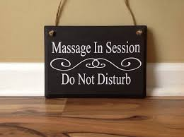massage therapist massage in session do not disturb door hanger wood hand painted custom sign hanging door sign front door sign