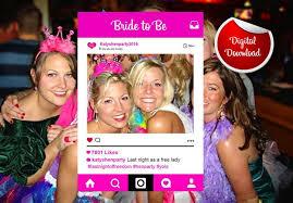 hen party instagram custom design photo frame prop bachelorette party prop digital file