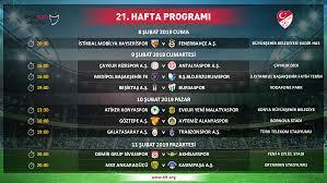 Spor Toto Süper Lig 21 ve 22. hafta programı açıklandı - Süper Lig  Haberleri TFF