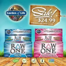 garden of life vitamin code men. Vitamin Code RAW ONE For Men \u0026 Women Garden Of Life