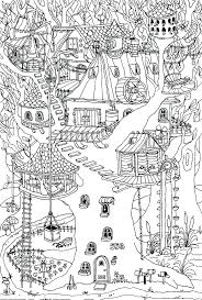 Printable House Coloring Pages Tree House Coloring Pages Family