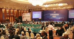 scene of round table conference for port ceos and financial investment companies