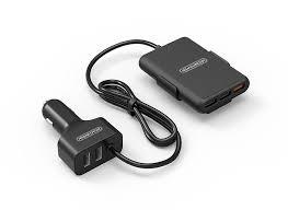 <b>NTONPOWER</b> 5 Ports USB QC 3.0 Car Charger with 1.8m ...