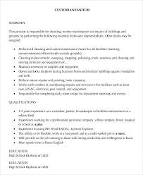 resume for janitor position janitor resume sample resume examples janitor  job description for resume janitor cover