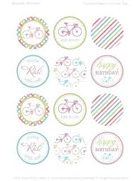 Cake Topper Template Bicycle Girl Cupcake Baptism Toppers Printable Free
