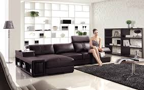 the mimi modern brown leather sectional sectionals sofa sets the mimi modern brown leather sectional