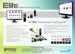 Digital Vision Chart Optitech Eye Care Acuty Chart