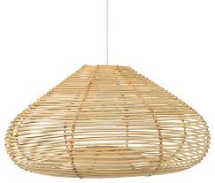 palau continuous weave discus wicker pendant lamp natural tropical pendant lighting by kouboo