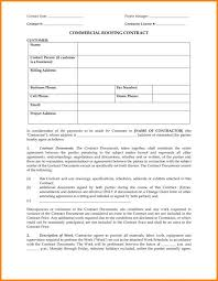 Contract Forms For Construction Free Construction Estimate Template Or Roofing Contract Forms Free