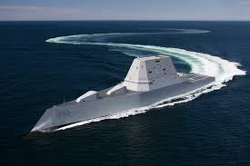 uss zumwalt ddg 1000 transits the atlantic ocean during acceptance trials april 21