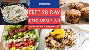 Free 28 Day Keto Meal Plan
