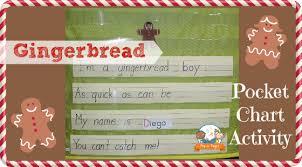 Pocket Chart Poems For Kindergarten Gingerbread Poem Pocket Chart Game