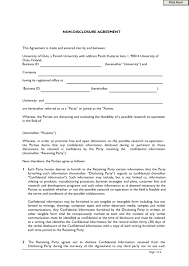 Standard Confidentiality Agreement Template Non Disclosure And Confidentiality Agreement Template 11