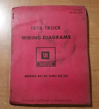 wiring diagrams 1976 gm truck wiring diagrams booklet models 40 45 thru 90 95 x