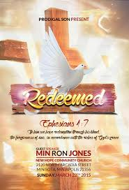 redeemed church flyer by kill bill graphicriver redeemed church flyer jpg