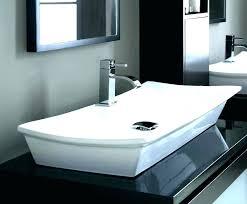 oval kohler square sink drop in bathroom more eye catching