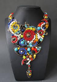 statement wire wrapped gemstone jewelry by rozemasha