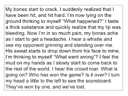 descriptive writing 18 my bones start