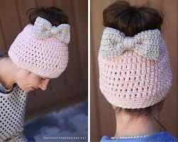 Bun Hat Crochet Pattern Custom Messy Bun Free Crochet Pattern Daisy Cottage Designs