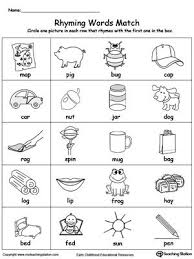 Phonics printable worksheets and activities (word families). Rhyming Words Match Rhyming Words Kindergarten Rhyming Words Worksheets Rhyming Words