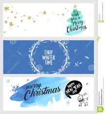 Set Of Christmas And New Year Social Media Banners Stock Vector
