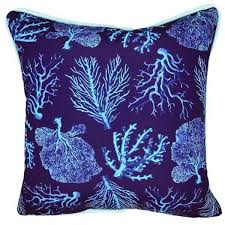 A FAN OF BLUE CORAL INDOOR OUTDOOR PILLOW – SeaByDay