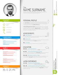 curriculum template cv resume template stock vector illustration of green 50593221