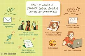 Post Interview Email Thank You Email After Interview Examples Dos And Donts