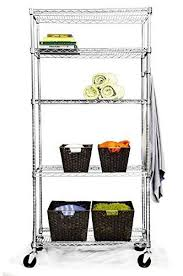 trinity ecostorage 5 tier shelving rack with wheels and hooks 36 x18 x 72 in