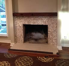 mixed quartz fireplace surround pebble tile