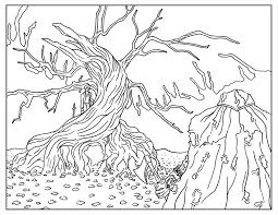 Nightmare Before Christmas Tree Coloring Pages Gallery Coloring