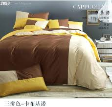 yellow queen bedding whole designer bedding sets solid mixed color bed set bedding bedding set brown yellow cotton bed linens white navy blue duvet