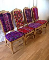 colorful furniture. Folk Project Features Chairs Using Mexican Textiles And Huipil Colorful Furniture D