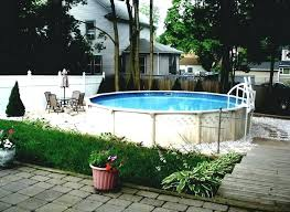 Backyard Above Ground Pool Ideas Swimming Pool Ideas On Above Ground